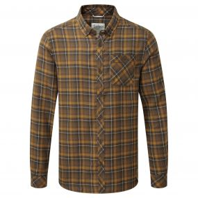 Craghoppers Kearney Long Sleeved Check Shirt Dirty Olive