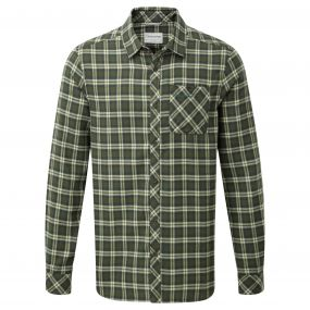 Craghoppers Brigden Long Sleeved Check Shirt Parka Green