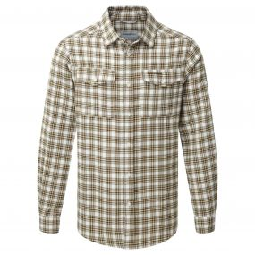Craghoppers Kiwi Long Sleeved Check Shirt Espresso Brown