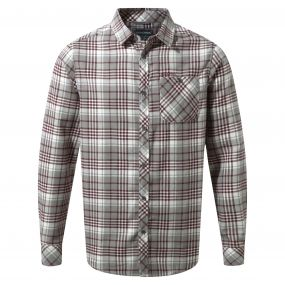 Craghoppers Bjorn Long-Sleeved Check Shirt Quarry Grey