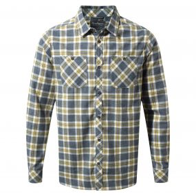 Craghoppers Andreas Long-Sleeved Check Shirt Ombre Blue Combo