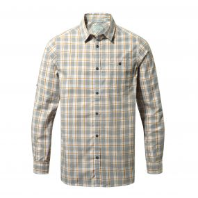 Craghoppers Brentwood Long-Sleeved Shirt Quarry Grey Combo