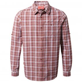 Craghoppers NosiLife Barmera Shirt Red Earth Check