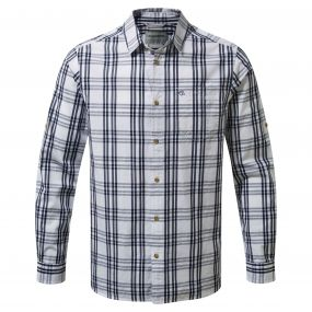 Craghoppers Blayney Long Sleeved Check Shirt Blue Navy