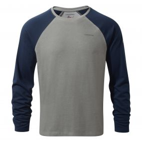 Craghoppers NosiLife Bayame Long Sleeved T-Shirt Soft Grey Blue