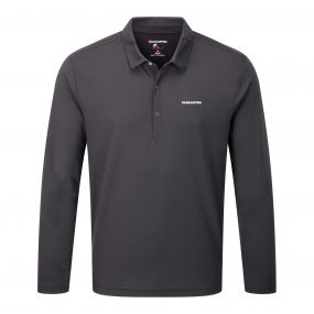 Craghoppers NosiLife Nemla Long Sleeved Polo Black Pepper