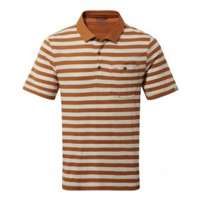 Craghoppers Fraser Short Sleeved Polo Tobacco Combo