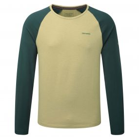 Craghoppers Maple Long Sleeved T-Shirt Light Olive Green