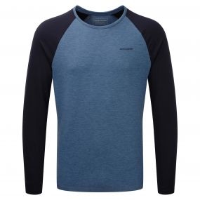 Craghoppers Maple Long Sleeved T-Shirt Indigo Marl Navy