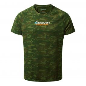 Craghoppers Discovery Adventures Short Sleeved T-Shirt Dark Moss Combo