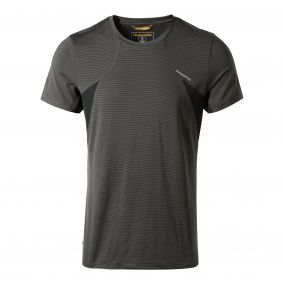 Craghoppers Fusion Short-Sleeved Tee Black Pepper Combo
