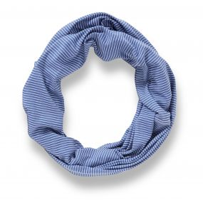 Craghoppers NosiLife Infinity Scarf Soft Denim Stripe