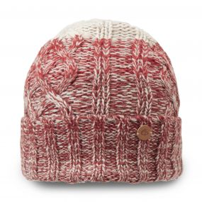 Craghoppers Unisex Dolan Knit Hat Dark Redwood Combo