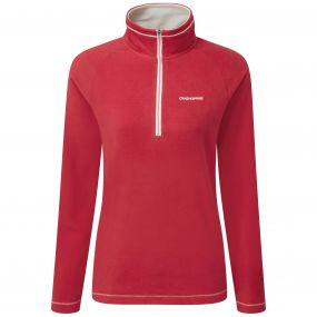 Craghoppers Seline Half Zip Fiesta Red