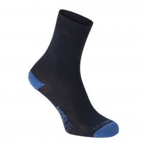 Craghoppers Single Pack NosiLife Travel Sock Dark Navy / Soft Denim