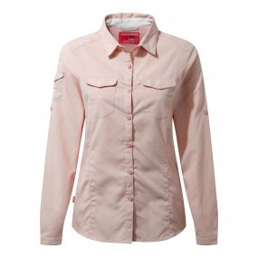 Craghoppers NosiLife Adventure Long Sleeved Shirt Blossom Pink