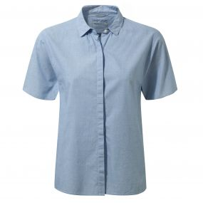 Craghoppers Natalie Short Sleeved Shirt Pale Blue