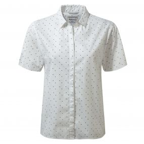 Craghoppers Natalie Short Sleeved Shirt Optic White Combo