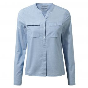 Craghoppers Ravello Long Sleeved Shirt Pale Blue