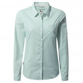 Craghoppers NosiLife Adoni Long Sleeved Shirt Seaspray