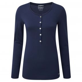 Craghoppers Gracefield Long Sleeved T-Shirt Night Blue