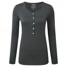 Craghoppers Gracefield Long Sleeved T-Shirt Charcoal