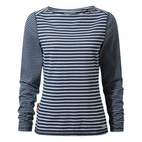 Craghoppers NosiLife Erin Long-Sleeved Top Night Blue Combo
