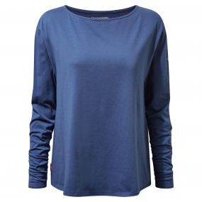 Craghoppers NosiLife Erin Long Sleeved Top Soft Denim