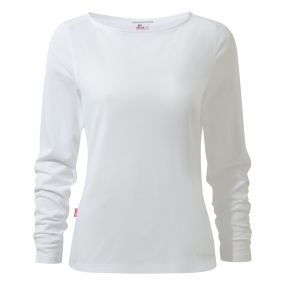 Craghoppers NosiLife Erin Long Sleeved Top Optic White