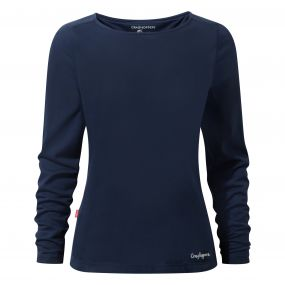 Craghoppers NosiLife Erin Long Sleeved Top Night Blue