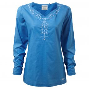 Craghoppers Rayna Long Sleeved Top Bluebell