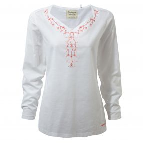 Craghoppers Rayna Long Sleeved Top Optic White