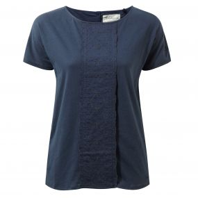 Craghoppers Connie Short Sleeved Top Soft Navy