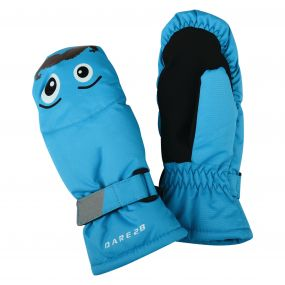 Dare2b Kids Look Out Mitt Gloves Fluro Blue