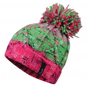 Dare2b Women's Concerted Beanie Hat Cyber Pink/Green