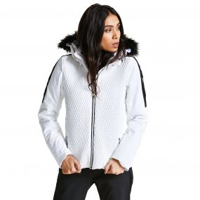Dare2b Women's Plica Luxe Ski Jacket White