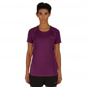 Dare2b Three Strikes T-Shirt Purple Marl