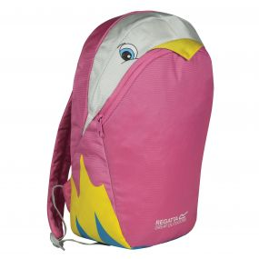 Regatta Kids Zepher Animal Daypack Rucksack Parrot Pink