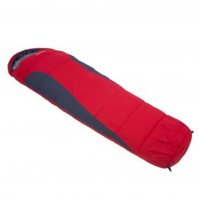 Regatta Hilo 300 Double Layer Lined Ripstop Mummy Sleeping Bag Pepper Red