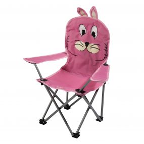 Regatta Kids Animal Lightweight Folding Camping Chair Rabbit Pink