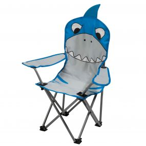 Regatta Kids Animal Lightweight Folding Camping Chair Shark Blue