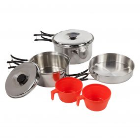 Regatta Compact Stainless Steel Cookset with Storage Bag Silver