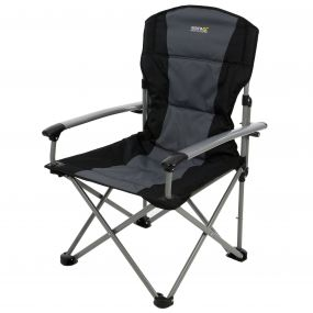 Regatta Forza Reinforced Folding Chair Black Seal Grey