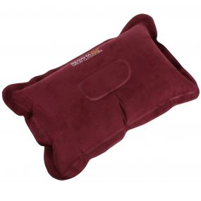 Regatta Inflatable Soft Touch Pillow with Storage bag Burgundy