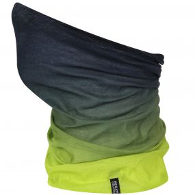 Kids Stretch Multitube Scarf Black Lime Zest