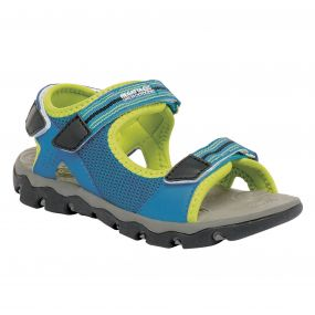 Regatta Terrarock Junior Sandal French Blue Lime