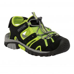 Regatta Deckside Junior Sandal Black Lime