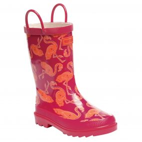 Regatta Minnow Junior Wellington Boot Duchess Satsuma