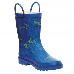 Regatta Minnow Junior Wellington Boot Blue Green