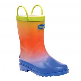 Kid's Minnow Junior Wellington Boots Blue Ombre